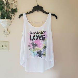 Summer Love Graphic printed tank/ bikini cover